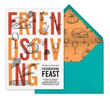 Paperless Post offers Friendsgiving invitations.